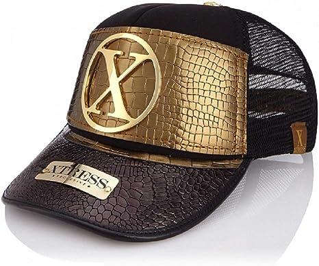 Xtress Exclusive Gorra Fashion para Hombre y Mujer Negra y Dorada ...