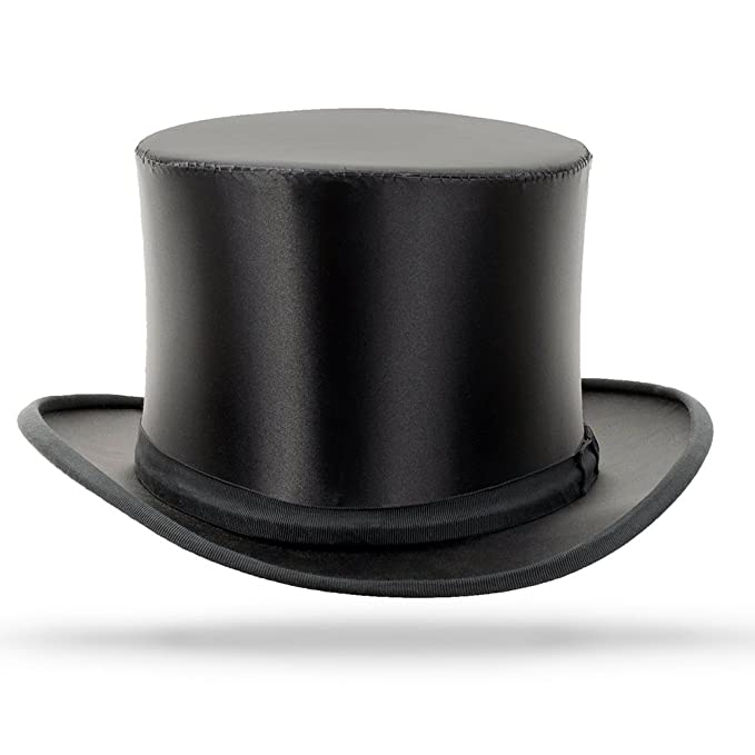 Victorian Men's Hats- Top Hats, Bowler, Gambler Top Hat Collapsible $400.00 AT vintagedancer.com
