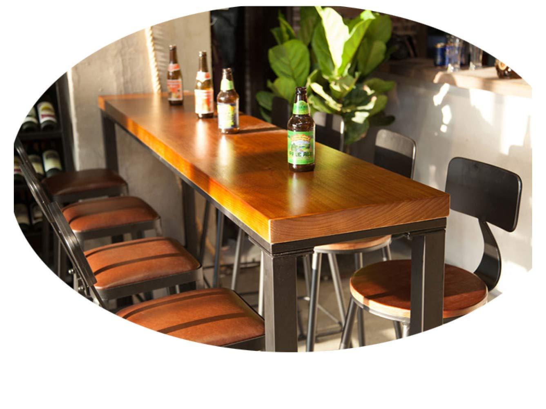 Mesa de Bar de Hierro Forjado, Mesa Alta de Madera Maciza, Mesa de Bar, Mesa de Café Y Silla,140 * 40 105 *,Mesa: Amazon.es: Deportes y aire libre