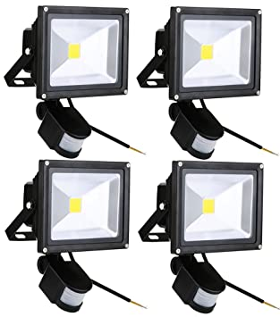 Leetop 4X 20W Blanco Cálido LED Foco Proyector Luz, Foco proyector ...