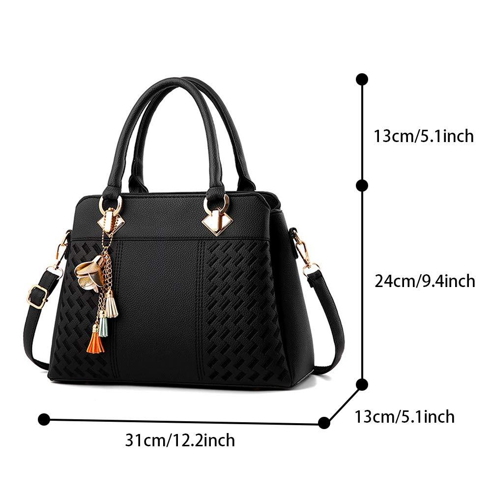03b928dac407a5 IBFUN Women Handbags Top Handle Bags PU Leather Shoulder Bags Satchels Tote Bags  Ladies Purses Black: Amazon.ca: Shoes & Handbags