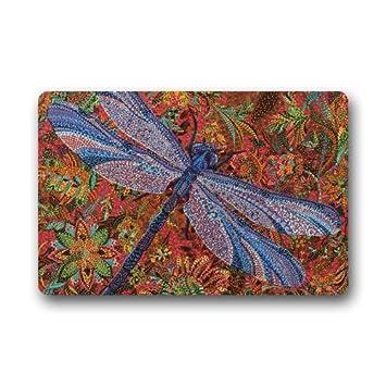 Charming Trippy Dragonfly Art Painting Doormats Floor Mat Door Mat Rug  Indoor/Outdoor Mats Welcome Doormat
