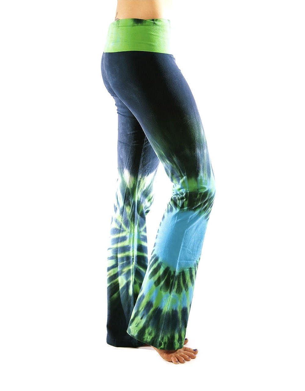 511cc2b5349a5 Amazon.com: Shining Shakti Boundless Tie-Dyed Yoga Pants - Large ...