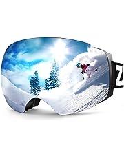 4097ce97241d Zionor X4 Ski Snowboard Snow Goggles Magnet Dual Layers Lens Spherical  Design Anti-Fog UV