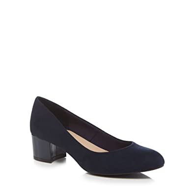 0958975c Good for the Sole Womens Navy Suedette 'Gianna' Mid Heel Wide Fit Court  Shoes