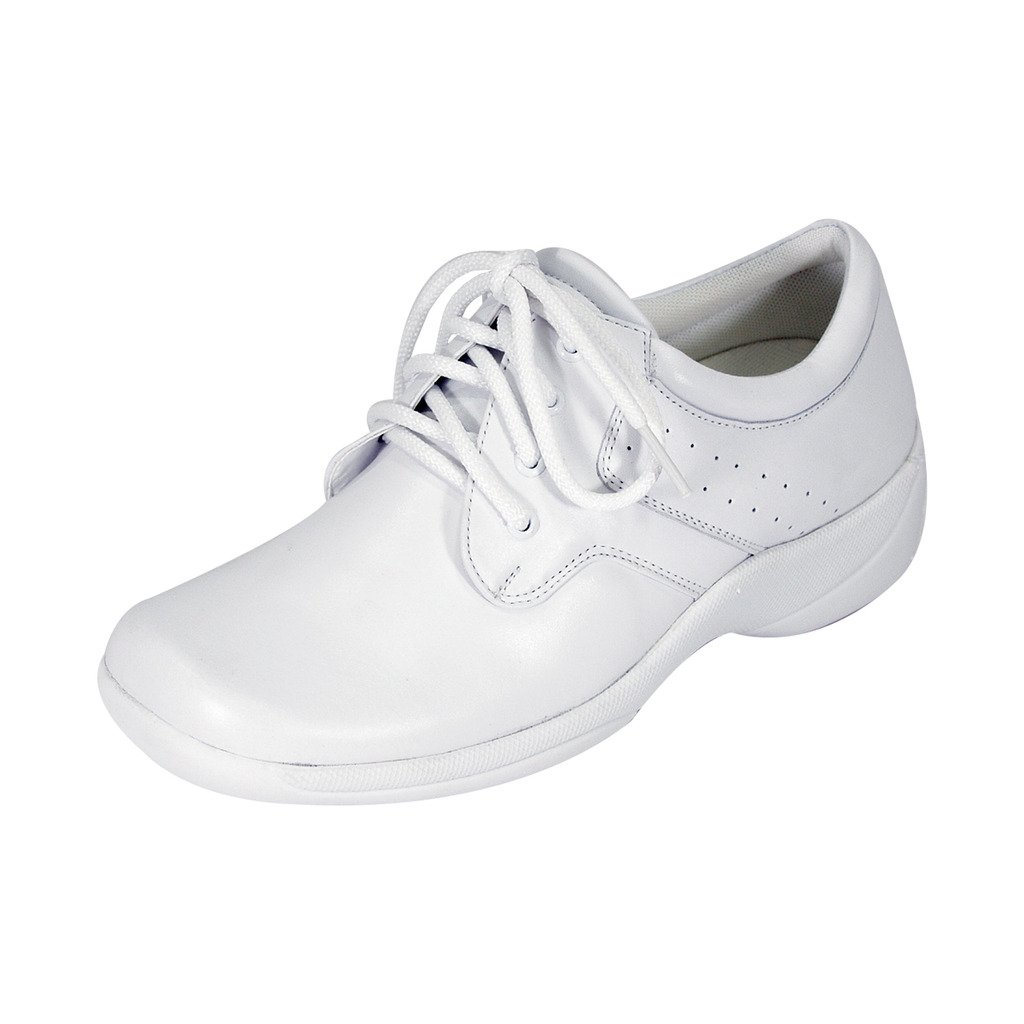 24 Hour Comfort  Julie Women Wide Width Lace up Shoes White 10