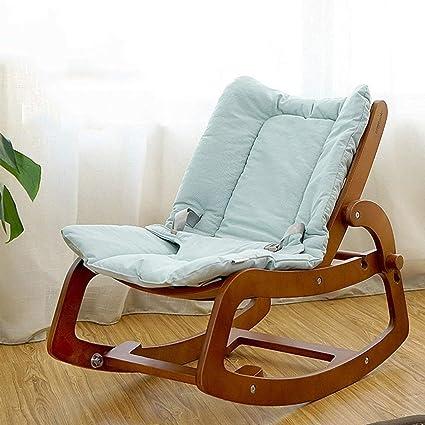 319717f92 Infantil Sillas mecedoras Sillón reclinable informal de madera maciza para  bebés multifuncional Silla mecedora para bebés