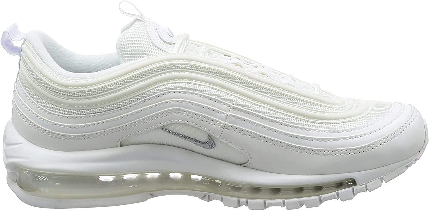 Amazon Com Nike Air Max 97 White Wolf Grey 921826 101 Us Size 7
