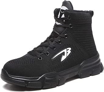Dxyap Botas de Seguridad Zapatos Seguridad Hombre Ligeros S3 Calzado de Seguridad Mujer Transpirables Punta de Acero Zapatillas de Trabajo Calzado de Industrial y Deportiva: Amazon.es: Zapatos y complementos
