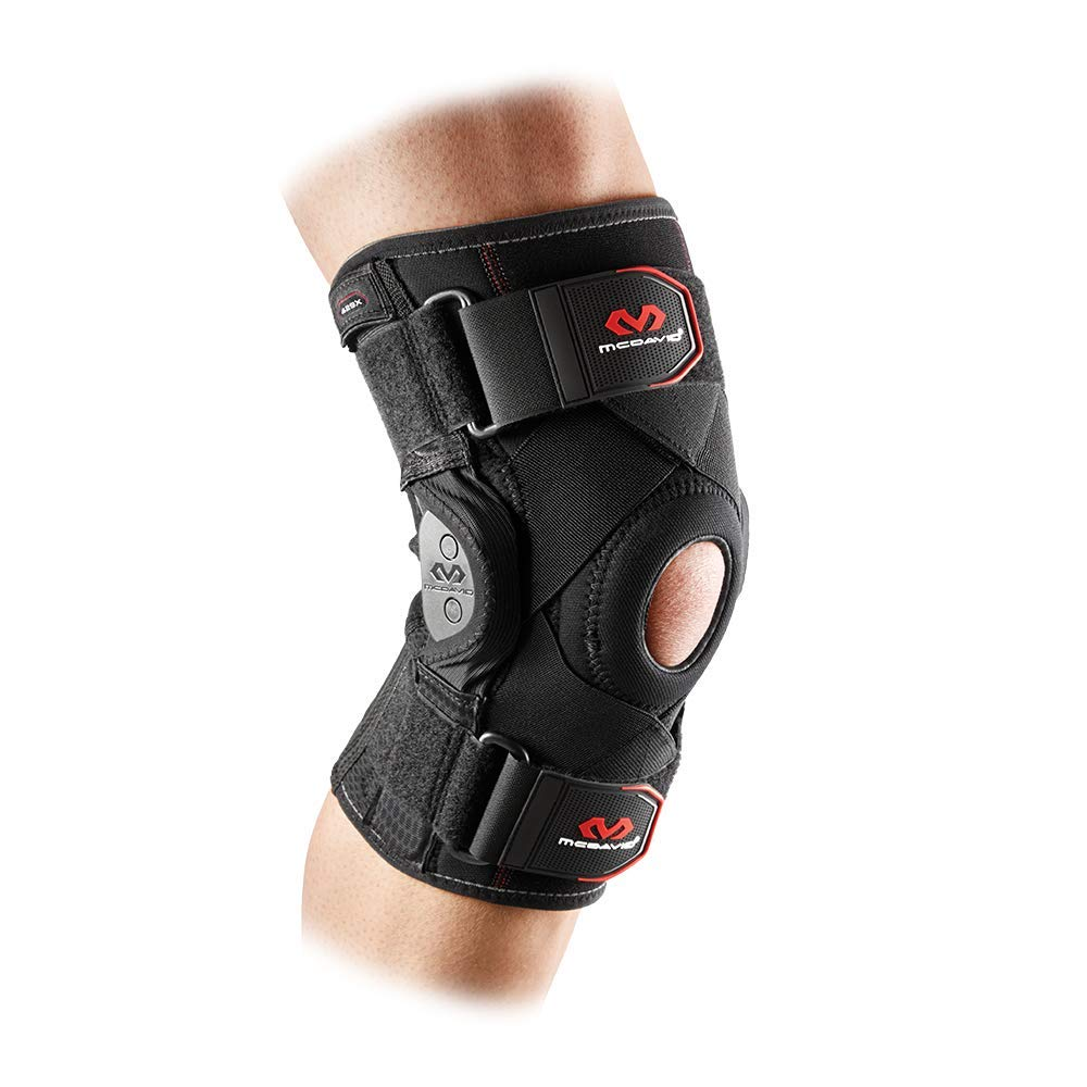 Mcdavid 429X Knee Brace, Maximum Knee Support & Compression for Knee Stability, Patellar Tendon Support, Tendonitis Pain Relief, Ligament Support, Reduce Injury & Assist in Recovery for Men & Women, Sold as Single Units (1), LARGE