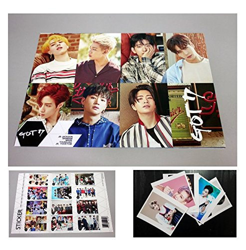 GOT7 - 12 PHOTO POSTERS(16.5 x 11.7 inches) + 1 STICKER + 5 Photos(4 x 3 inches)