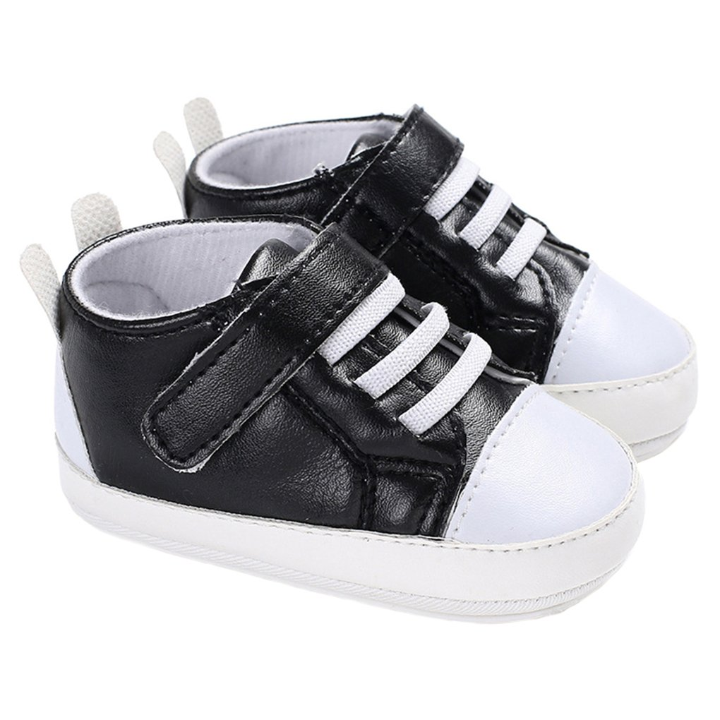 lakiolins Baby Boys High Top Walking Sneakers Lace-up Soft Sole Anti-Slip House Shoes