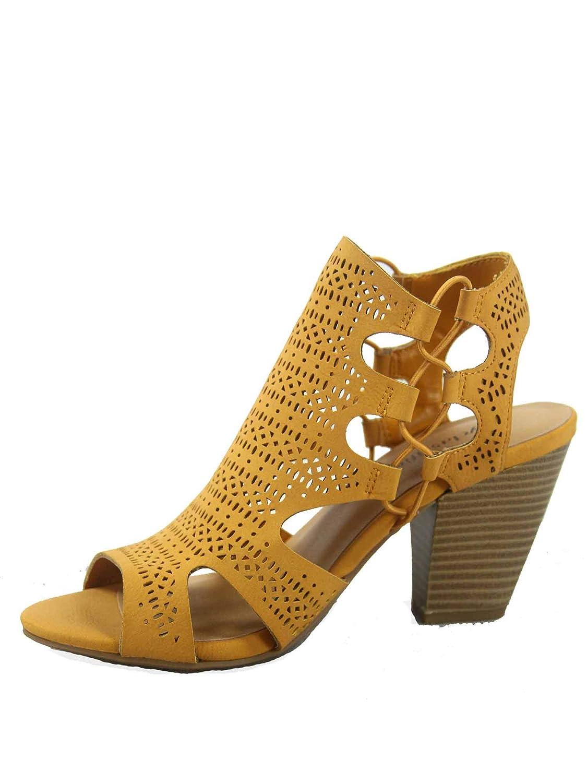 Mustard City Classified Zuka-s Women's Fashion Summer Sexy Open Toe Chunky Heel Sandals shoes