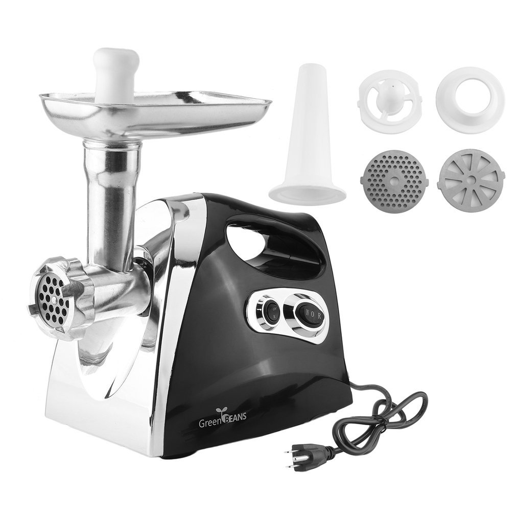 Homgrace Electric Meat Grinder, Meat Machine Sausage Maker, Meat Mincer Sausage Stuffer, Heavy Duty Food Processing Machine for Home & Commercial Use (black)