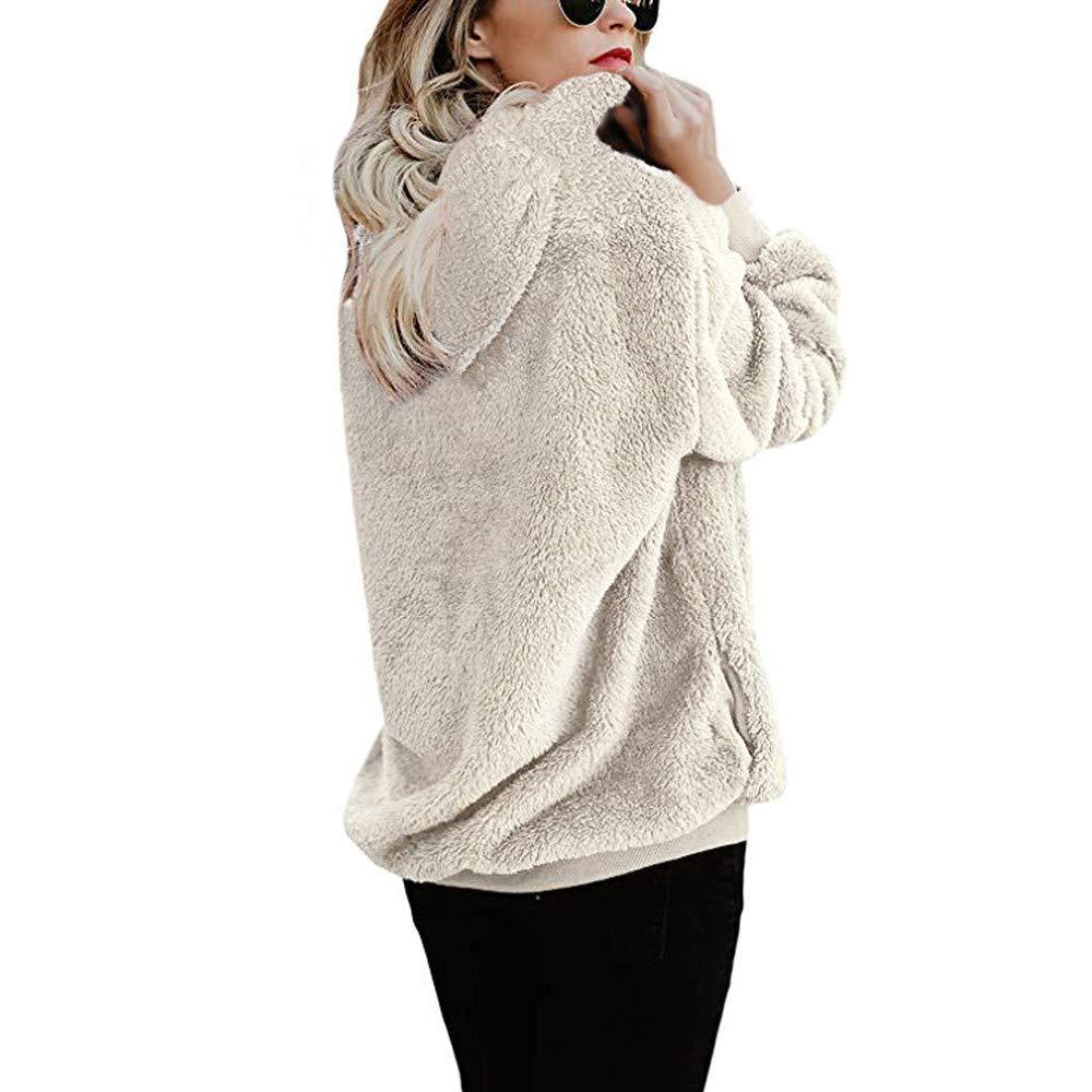 HiGOGO Plus Size Fleece Hoodie 1//4 Zip Pullover Sweatshirt for Women