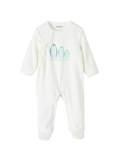 35d90652c VERTBAUDET Pijama de terciopelo bebé Blanco Roto Estampado 1M - 54CM