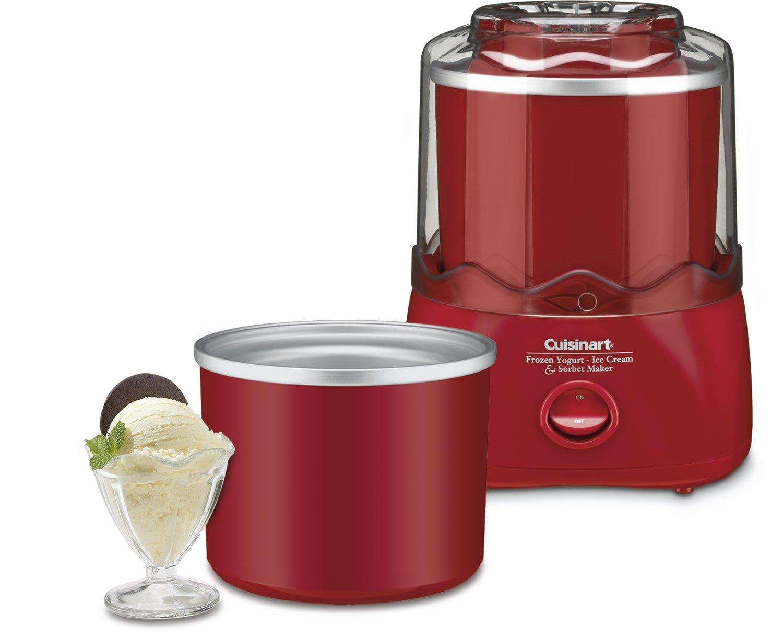 Amazon Cuisinart ICE 20R 1 2 Quart Automatic Ice Cream Frozen Yogurt Sorbet Maker Red Soft Serve Machine Kitchen Dining
