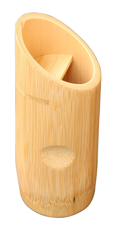 Yamako Pottery White Bamboo Tokkuri Japanese Sake Bottle A 12337