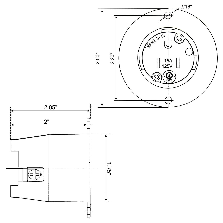 4 Prong 125 250 Plug Wiring Diagram Diagrams Volt Cllena Nema L14 30 Female 3 Pole Wire Amp Outlet