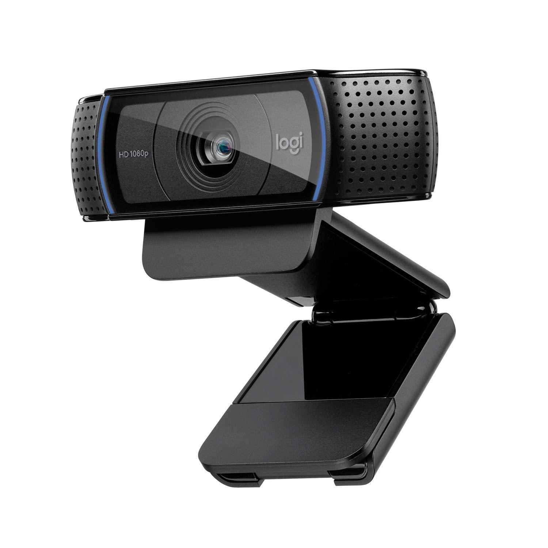 Webcam Logitech C920 HD Pro: appels et enregistrements vidéo en haute définition 1080p avec deux micros stéréo - Noir product image