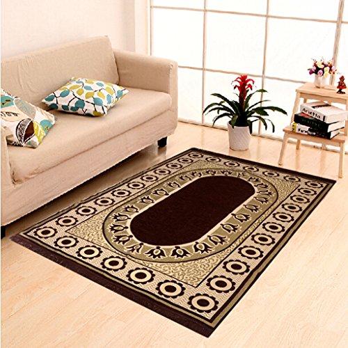 HOME ELITE Multicolor Ethnic Design Velvet Touch Carpet ( 140×210 cm) , RG-CRT-406