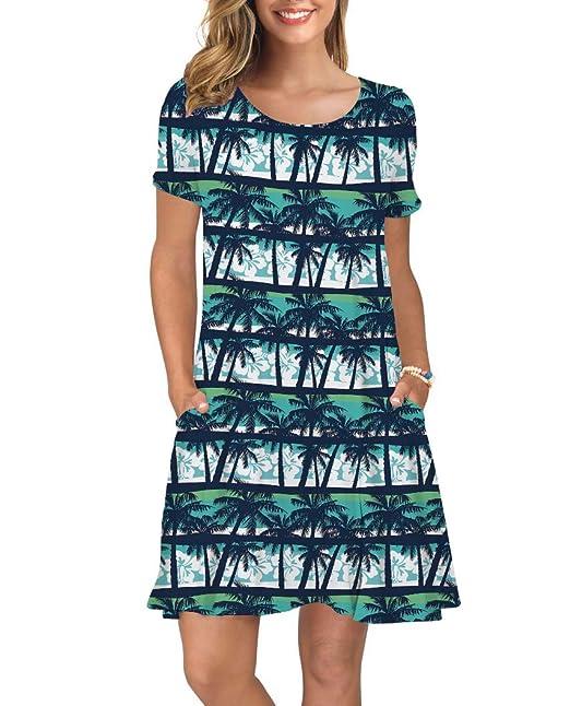 Amazon.com: Alisister - Vestido de verano para mujer, manga ...