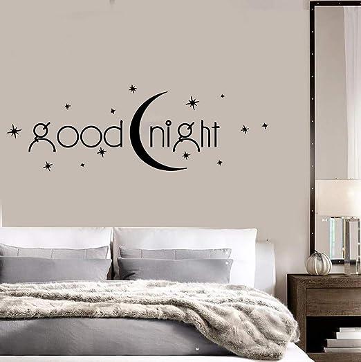 Ajcwhml Buenas Noches Vinilo Adhesivos de Pared decoración del ...