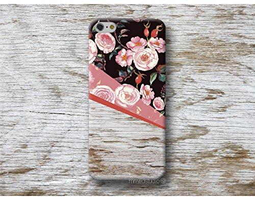 floral bois Print Coque É tui Phone Case pour Samsung Galaxy S9 S8 Plus S7 S6 Edge S5 S4 mini A3 A5 J3 J5 J7 Note 9 8 5 4 Core Grand Prime