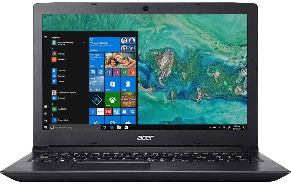 "Acer Aspire 3 15.6"" LED HD Laptop AMD Athlon Silver 3050U 128 SSD 8GB DDR4 Memory 802.11ac WiFi USB 3.0 Webcam SD Card Reader HDMI Ethernet Windows 10 Home FreeCit Accessories"