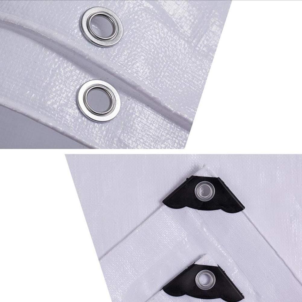 Colore : Bianca, Dimensioni : 2 * 3 Teloni Gazebo UV-Proof A Prova di Vento Isolamento Antipioggia per Esterni in Materiale Plastico Portatile in Polietilene ZHML