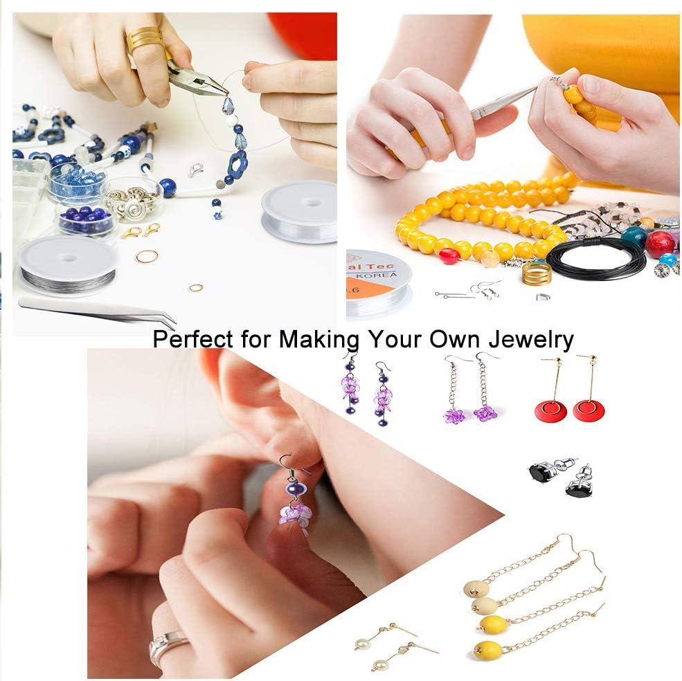 anneaux ouverts bracelets kit de cr/éation de bijoux avec fermoirs mousqueton DailyCraft Kit de cr/éation de bijoux colliers bronze fil et plus Outil de r/éparation de bijoux pour boucles doreilles