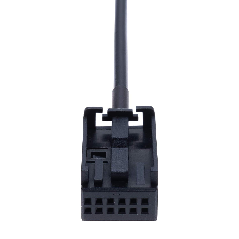 4.5 ft 12 pin Lead Cord for Navigation AUX Input Audio Cable Adapter Compatible with Opel Vauxhall Agila Astra Antara Corsa Combo Meriva Movano Signum Tigra Vectra Vivaro Zafira Vehicle Radio