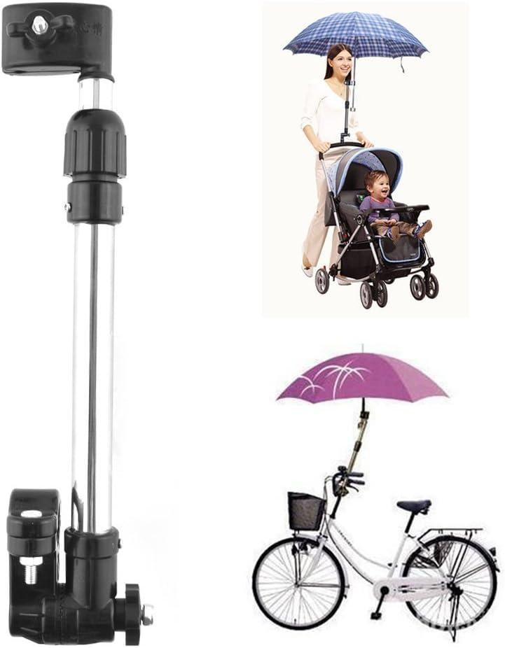Muttiy haute qualité réglable pour vélo Parapluie support de fixation Wivel connecteur Poignée barre de support de cadre Accessoires pour vélo poussette bébé Chaise Fauteuil roulant