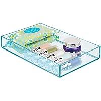 mDesign Cajas de plástico para organizar maquillaje –