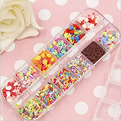 Fashionlook DIY Fake Sprinkles Decoration for Slime Filler DIY Slime Supplies Simulation Candy Cake Dessert Toys Slime Mud Accessories: Home & Kitchen