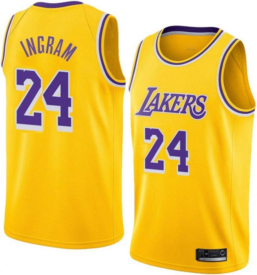 AMJUNM Traje de Baloncesto Masculino Lakers 24# Kobe Bryant Jersey Chaleco de Baloncesto de Bordado: Amazon.es: Deportes y aire libre