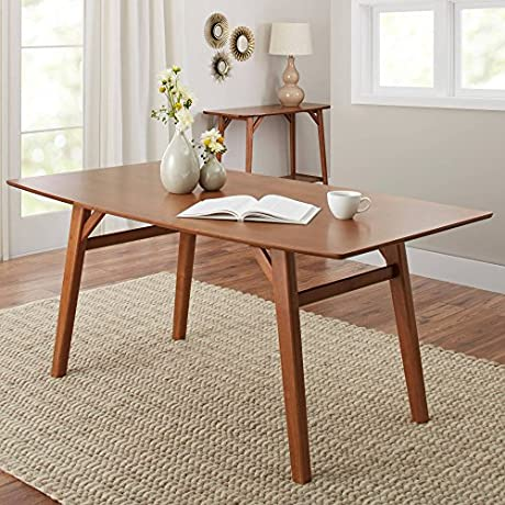 Your New Add Is Modern Dining Table In Pecan Living Room Kitchen Or Dining Room Furniture Upgrade Your Home