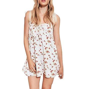 Vestido de verano para mujer, LILICAT® 2018 Vestido de noche sin mangas con hombros