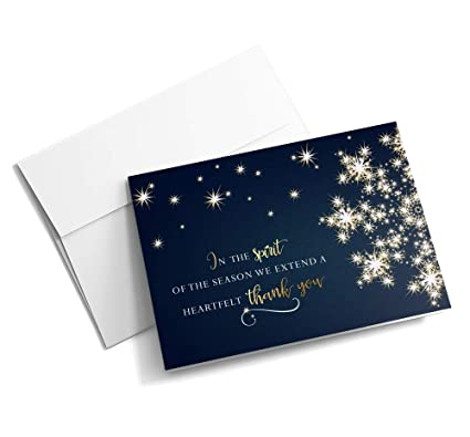Amazon spirited snowflake of thanks christmas cards 25 spirited snowflake of thanks christmas cards 25 greeting cards with your custom message and m4hsunfo