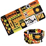 (African Culture) Cycling Headband Thick Absorbent Head Wrap Face Shield Scarves