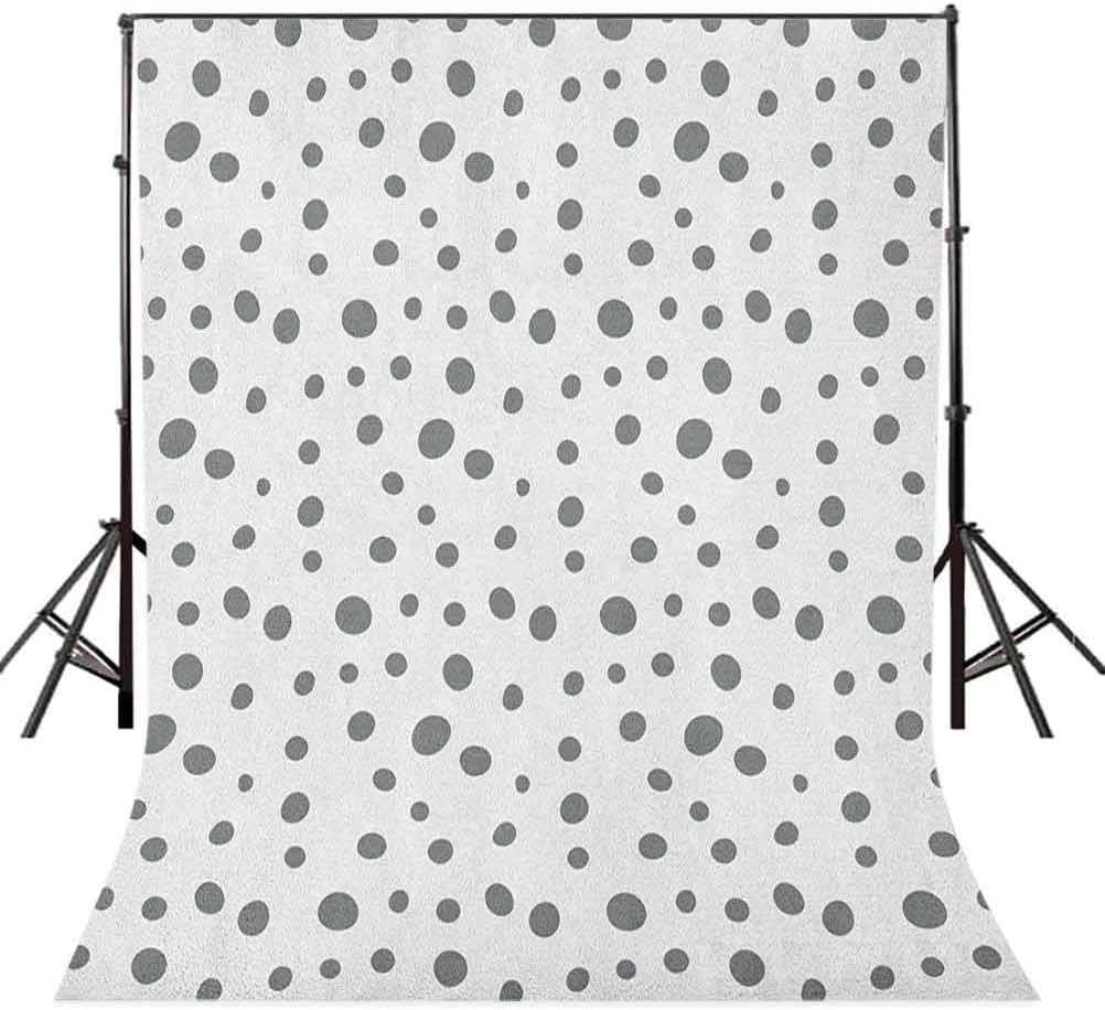 9x16 FT Vinyl Photography Background Backdrops,Simplistic Spotty Dalmatian Pattern in Retro Style with Doodle Design Background for Graduation Prom Dance Decor Photo Booth Studio Prop Banner