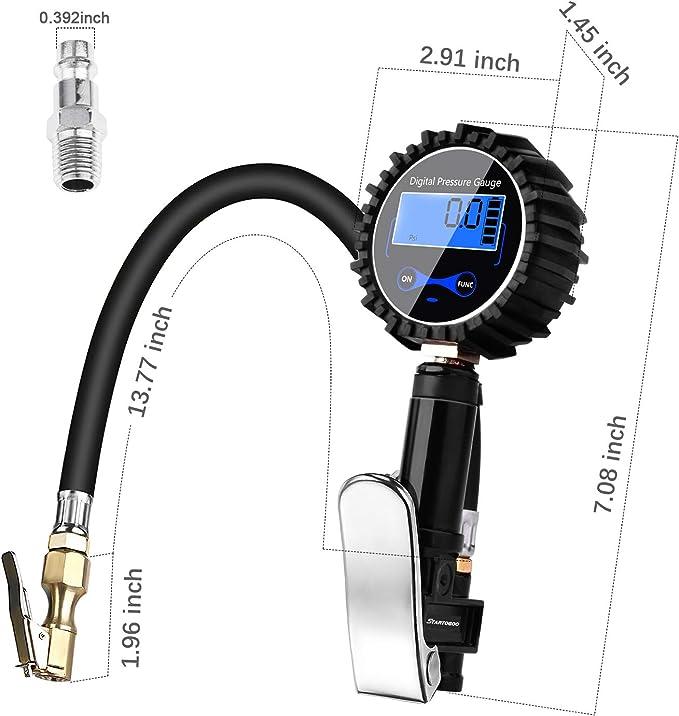 Longruner Digital Tyre Pressure Gauge Tyre Pressure Tester Tyre Inflator 200 Psi High Precision Tyre Inflator Air Pressure Gauge And Lcd Screen For Car Truck Motorcycle Rv Suv Bike Lv12 Auto