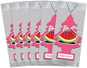 LITTLE TREES Car Air Freshener | Hanging Paper Tree for Home or Car | Watermelon Scent | 6 Pack