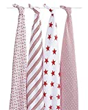 aden + anais Classic Muslin Swaddle Blanket 4 Pack - Product (RED) Special Edition