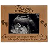 KATE POSH Baby Engraved Wood Picture Frame - Sometimes The Smallest Things take up The Most Room in Your Heart - Winnie…
