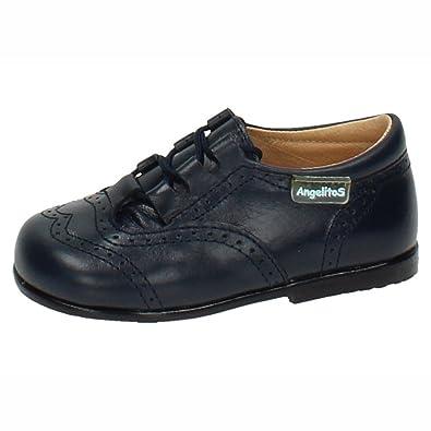 ANGELITOS 505 INGLESITOS DE Piel NIÑO Zapatos MOCASÍN Azul Marino 18