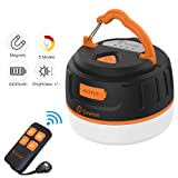 Siivton Camping Lantern, LED Tent Light with Remote Control & Power Bank 6400mAh, USB Camping Light Rechargeable Ultra Bright LED Mini Lantern for Holiday Decor (Color: Orange, Tamaño: 3.14*2.36inch)