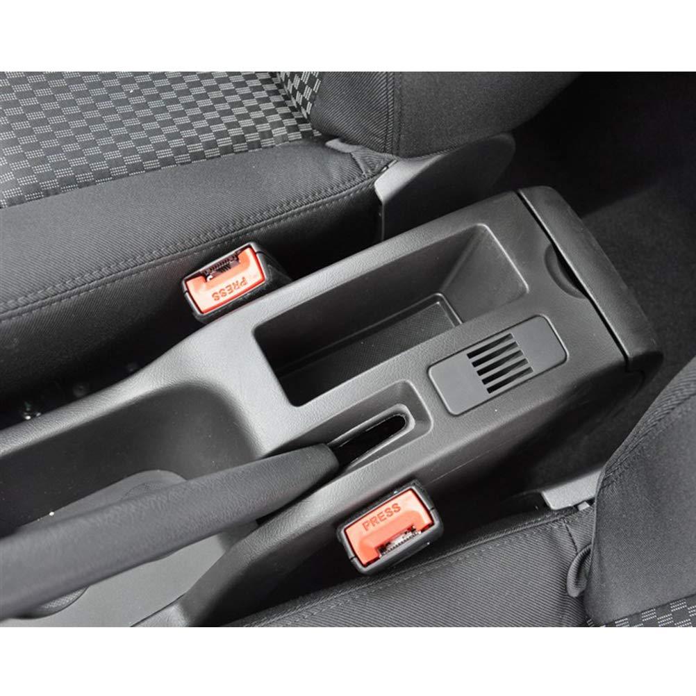 Bracciolo Auto Centrale per 307 2004-2013 Console Centrale Automobile Appoggio in Pelle con portacenere /& portabicchieri /& 7 Porte USB Nero