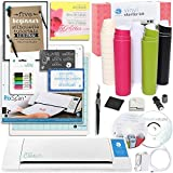 Silhouette CAMEO 2 Starter Bundle with Vinyl Kit, Pixcan Mat, Cutting Blade, Glitter Pens, Starter Guide, Tools and More