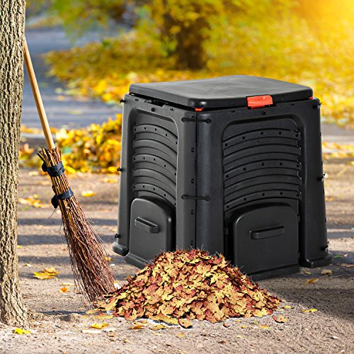 New MTN-G Outsunny 400L Eco Friendly Organic Waste Converter Garden Compost Bin Black by MTN Gearsmith